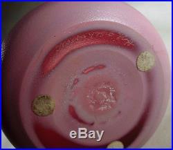 Midcentury Modern Kosta Sweden Frosted Art Glass Pink Flamingo Vase Hoff 47516