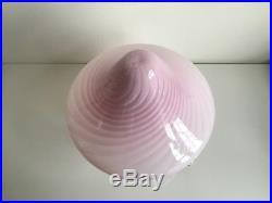 Midcentury Murano Glass Swirl Mushroom Table Lamp 11 Vetri Made Murano Italy