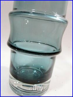 Midcentury Riihimaki Riihimaen Lasi Oy Finland Art Glass Vase Tamara Aladin