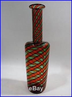 Midcentury Venetian MURANO Glass CANNE Bottle FRATELLI TOSO Venini Bianconi Era
