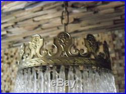 Midcentury Vintage crystal Glass chandelier 7 tiers -1950