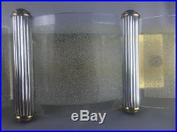 Moe Light Thomas Industries Mid Century Modern Molten Form Glass Square Lucite