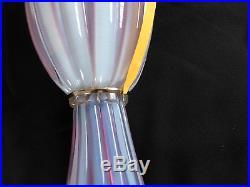 Murano Archimede Seguso Lilac Opalino 36 Mid-century Glass Lamp