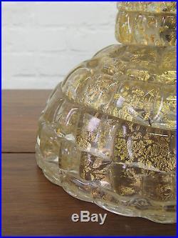 Murano Barovier + Toso Large Mid Century Modern Italian Art Glass Lamp Lenti