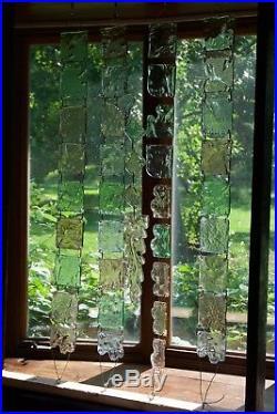 Murano Glass Curtain Screen Room Divider CUSTOMIZABLE Mid-Century Art Glass Tile