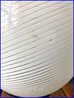 Murano Glass Egg Lamp Tripod Mid-Century Modern Venini Swirl Rare 60s 70s