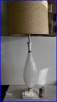 Murano Glass Opaline Bullicante Lamp Barovier & Toso Barbini Mid Century