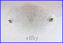 Murano ICE GLASS Flush Mount Ceiling Light by Hillebrand, Germany