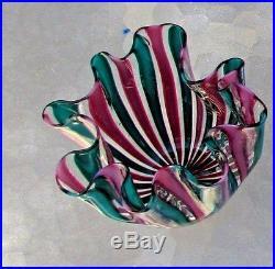 Murano Italy Classic Mid Century Handerchief Vase Venini Art Glass