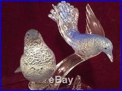 Murano Perching Birds Sculpture Glass Mid century Formia