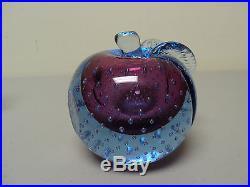 Murano Sommerso Barbini Mid-century Art Glass Bookends, Controlled Bubbles