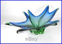 Murano XL Glas Schale Zipfelschale 60s 70s Mid-Century Venetian Glass Bowl Italy