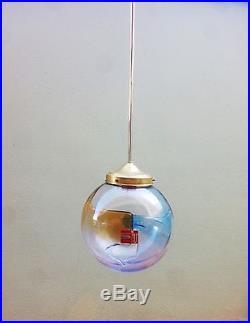NOS Mid Century 60s Membrane Murano Glass pendant lamp Toni Zuccheri Venini