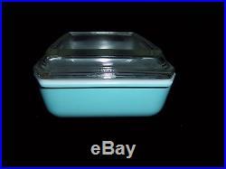 Near Mint! ATOMIC STAR Vintage PYREX Turquoise 575-B Orig Lid HTF Mid-Century NR