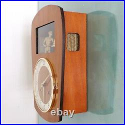ODO Wall ANIMATED Feature! TOP Clock Vintage Mid Century Chime HIGH GLOSS French