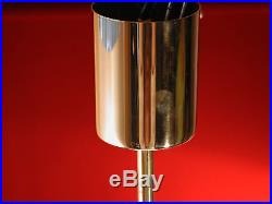 Old Mid-Century Chandelier Pendant Hanging Lamp Frosted Glass KINKELDEY Vintage