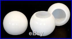 Original GLASS GLOBE SHADE REGGIANI Chrome TABLE FLOOR LAMP Mid-Century EAMES