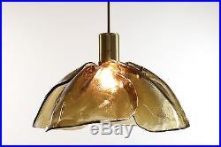 Original Vintage Kalmar Glass Chandelier Mid Century Modern Design 1960's 70's