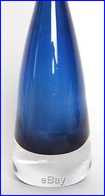 Orrefors Expo Scandinavian Art Glass Vase Nils Lanberg Mid Century Eames