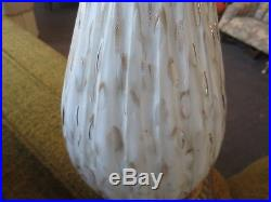 PAIR MID CENTURY MODERN ITALIAN MURANO ART GLASS LAMPS BAROVIER BARBINI EAMES