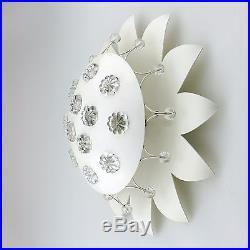PAIR Wall Sconces Ceiling Lights Emil Stejnar Glass Flowers White Mid-Century