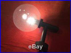 Pair Mid Century HANS AGNE JAKOBSEN Outdoor Wall Sconces Lights Glass Globes