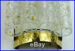 Pair of 1960's mid century modernist doria WALL SCONCES with 4 glass tubes