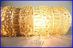 Pair of Wall Sconces Mirror Lamps Amber Bubbled Glass Mid Century 50`s 60`s