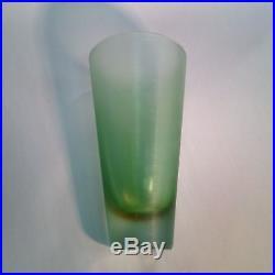 Paolo Venini inciso Italian Art Glass 8-1/4 inch tall Mid-Century Modern vase