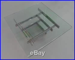 Paul Mayen Modern Mid Century chrome and Glass Coffee Table