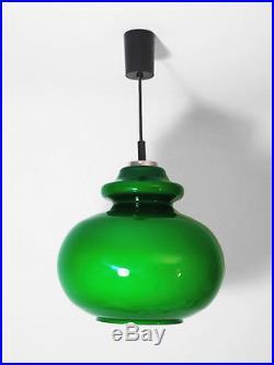 Peill & Putzler vintage lamp light green glass chrome mid century retro 60s 70s