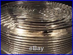 RARE Mid Century Modern Glass Flush Mount Light Fixture or Sconce