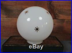RARE NOS Mid Century Modern STARBURST 8 Glass Globe Light Lamp Shade Atomic Age