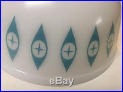 RARE Pyrex Atomic Eyes Pattern 8 3/4 Mixing Bowl Mid Century Design