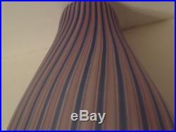 Raymor Monumental Vertical Stripes MID Century Modern Design Art Glass Vase
