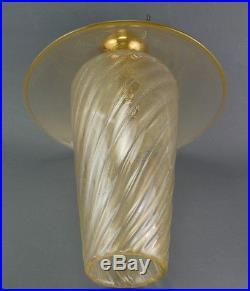 Rare 50s Ceiling Light Glass MURANO Glas Lampe Barovier(attr.)MidCentury modern