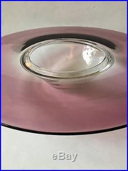 Rare! ALFREDO BARBINI Signed Large Art Glass Bowl Murano, Italy mid century mod
