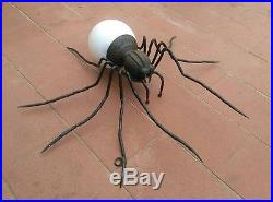 Rare Brutalist Spider Mid Century XL Wall Sconce Opal glass Stilnovo 60s Italy