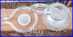 Rare Dorothy Thorpe Art Glass Teapot Sandblast Etched Mid Century