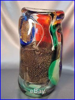 Rare Fine Heavy Franco Moretti Art Glass Murano Mid Century Modern Venini Era