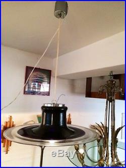 Rare Glass Ceiling Lamp ESPERIA Angelo Brotto mid century Design Modern 60s
