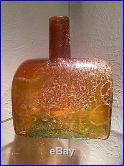Rare Kaj Franck Nuutajarvi Notsjo Mid Century Scandinavian Art Glass Vase