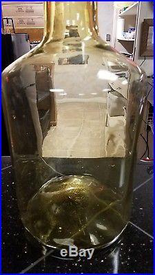 Rare Large Mid Century Modern Blenko Art Glass Honey Apothecary Bottle- 24Tall