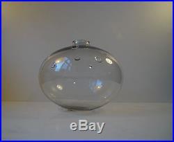 Rare Mid Century Holmegaard Meteor b Michael Bang Studio glass vase Danish1970s