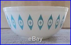 Rare Mid Century Modern Pyrex ATOMIC EYES 2.5 Quart Mixing Bowl (#403) MINT N. R