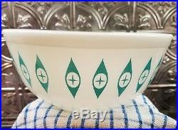 Rare Mid Century Modern Pyrex ATOMIC EYES 2 Quart Mixing Bowl Vintage