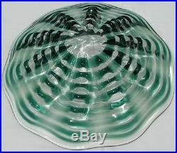 Rare Mid Century Murano Italian Art Glass Center Bowl By Archimede Seguso