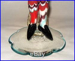 Rare Mid Century Venetian Murano Art Glass Masked HARLEQUIN 13 Jester Figurine