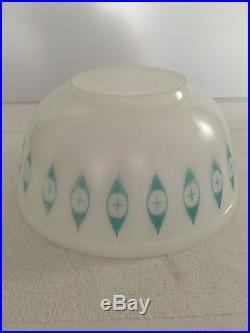 Rare Pyrex Atomic Eyes Eye Chip Dip Large Mixing Bowl MCM Mid Century Vintage