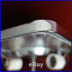 Rare Retro Lightolier Square Chrome Frame Glass Ceiling Light Fixture Midcentury